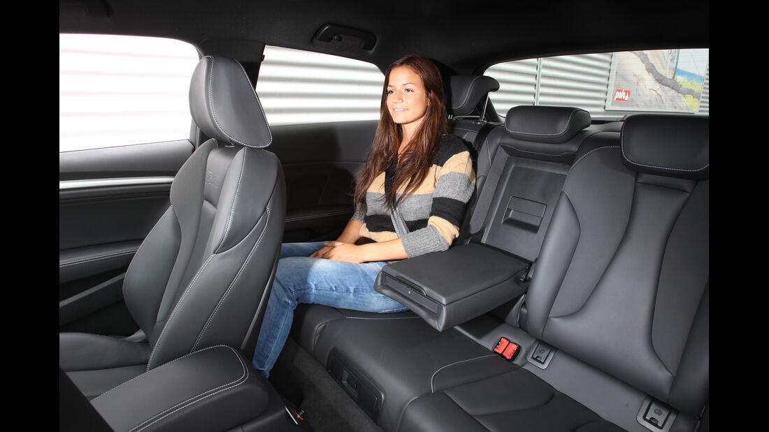 Audi A3 1.8 TFSI, Rücksitz, Beinfreiheit