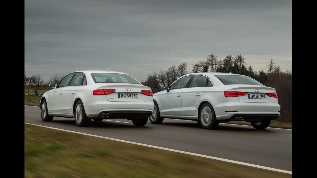Audi A3 2.0 TDI, Audi A4 2.0 TDI, Heckansicht