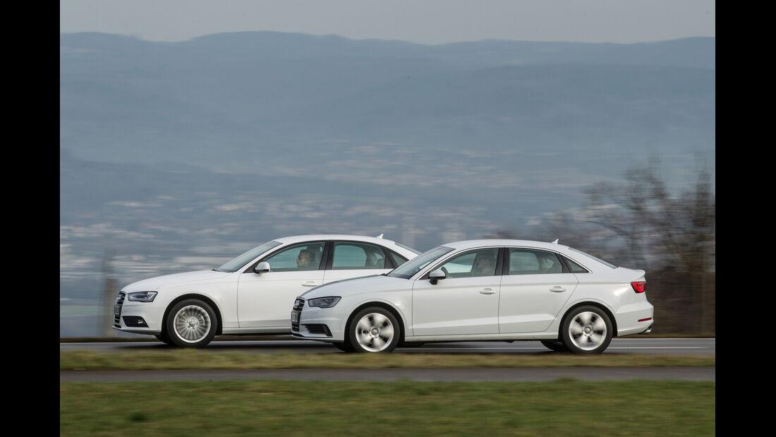 Audi A3 2.0 TDI, Audi A4 2.0 TDI, Seitenansicht