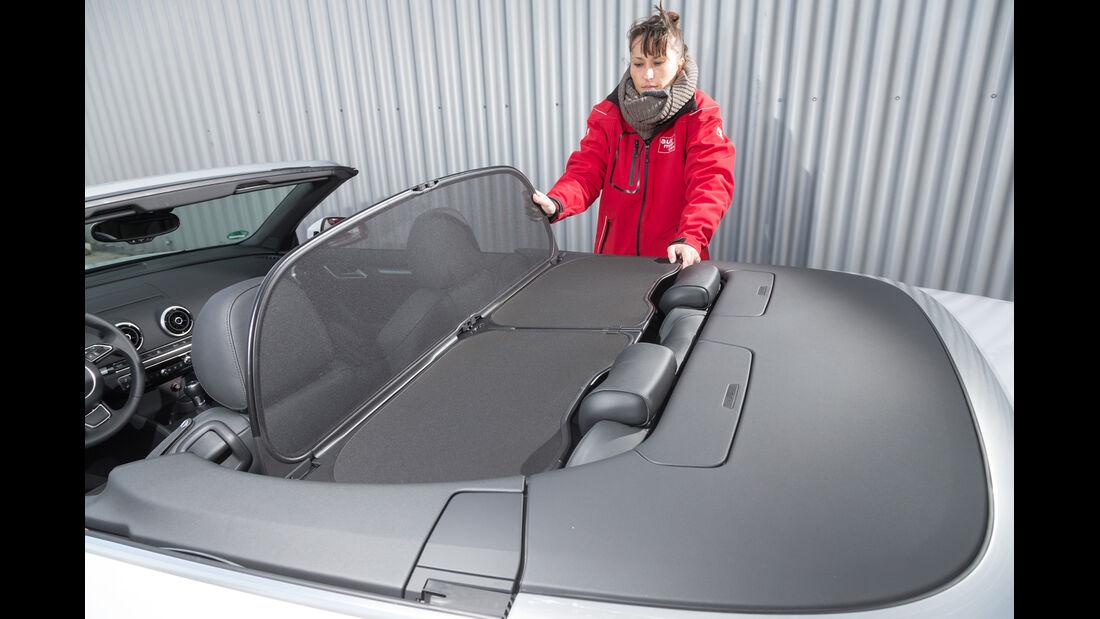 Audi A3 2.0 TDI Cabrio, Windschott