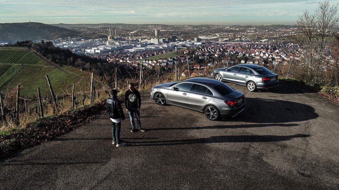 Audi A3 35 TDI Limousine Sport, Mercedes A 200 d Limousine Progressive, Exterieur