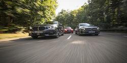 Audi A3 35 TDI Sportback, BMW 118d, Mercedes A 200 d, Exterieur