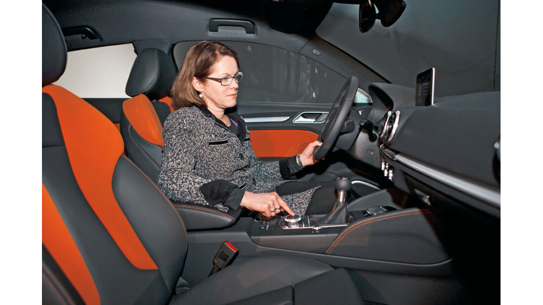 Audi A3, Birgit Priemer, Cockpit