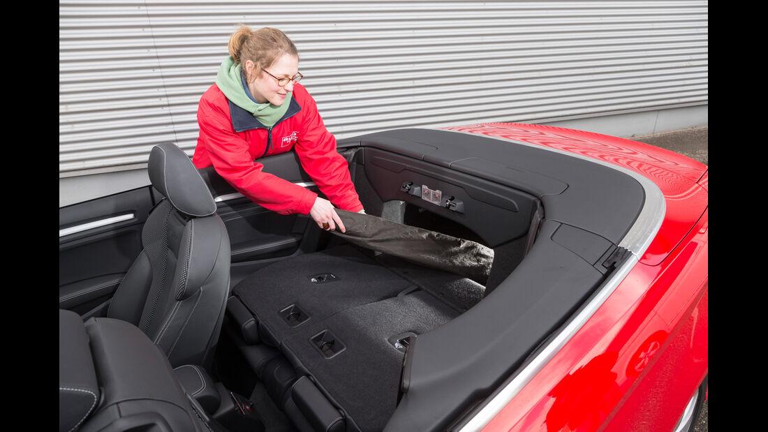Audi A3 Cabrio 1.8 TFSI, Windschott, Ablage