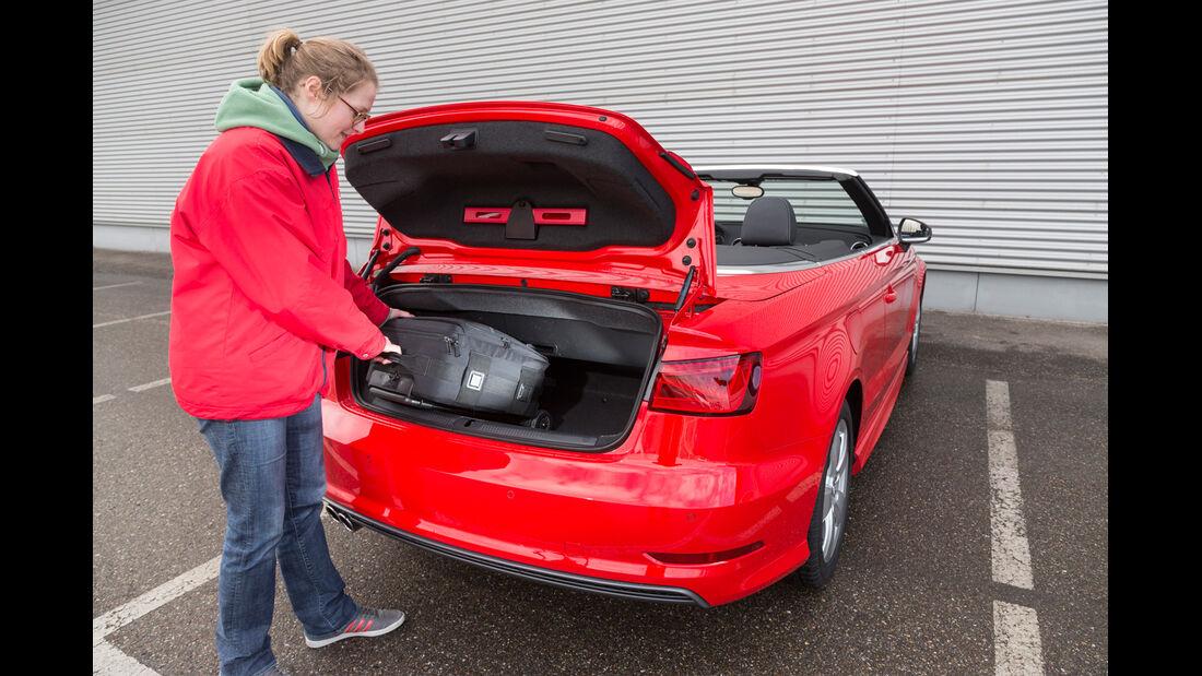 Audi A3 Cabrio, Kofferraum