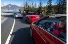 Audi A3 Cabrio, Opel Cascada, VW Golf Cabrio, Ausfahrt