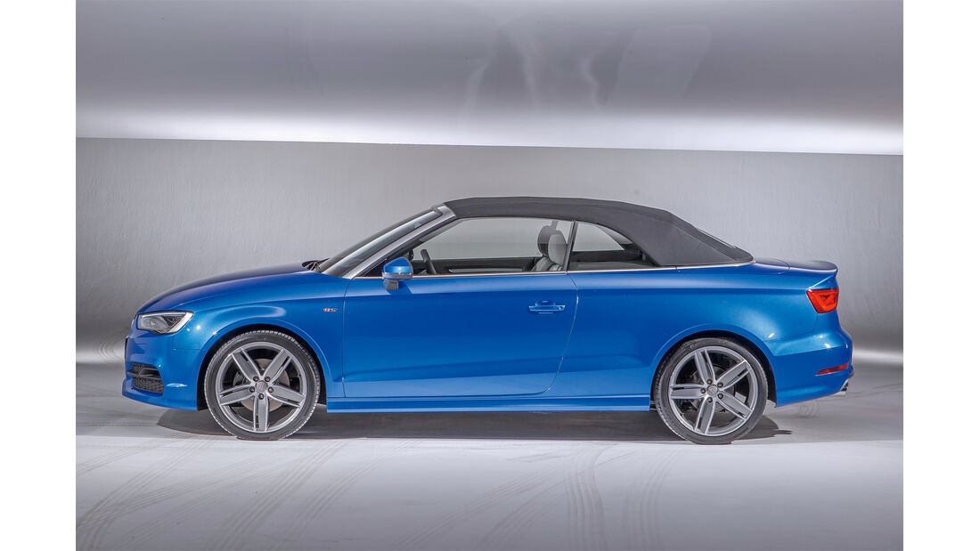 Audi A3 Cabrio, VW Golf Cabrio, Seitenansicht