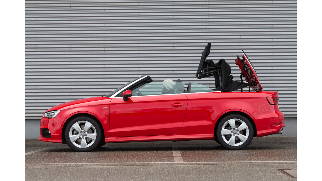 Audi A3 Cabrio, Verdeck öffnet