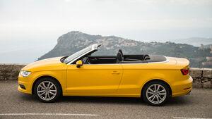 Audi A3 Cabriolet 1.4 TFSI, Seitenansicht, Offen