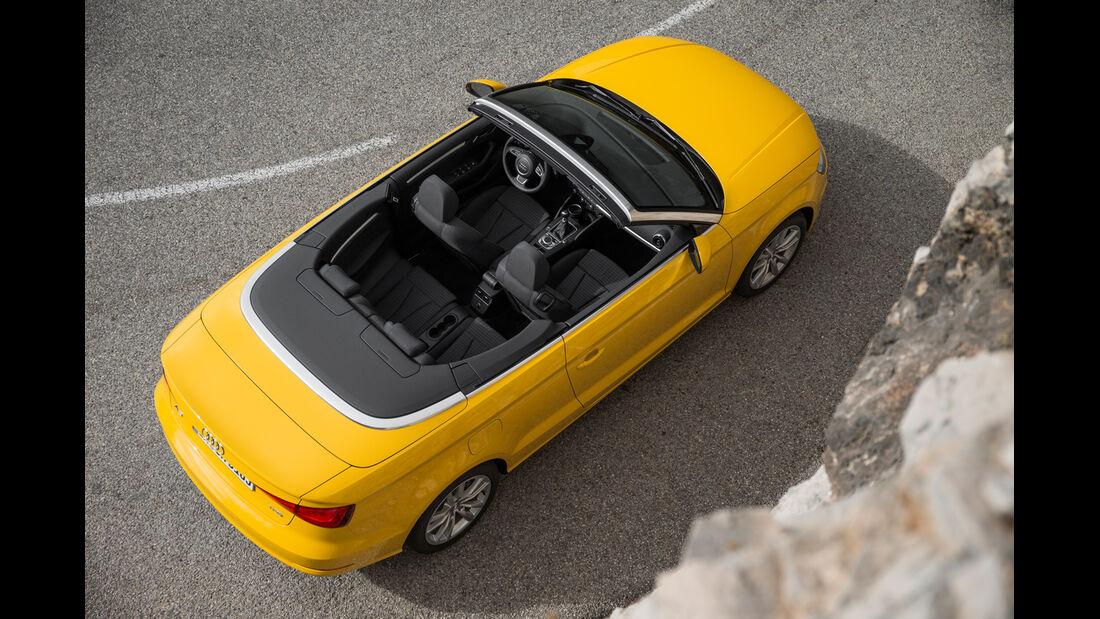 Audi A3 Cabriolet 1.4 TFSI, von oben, Draufsicht