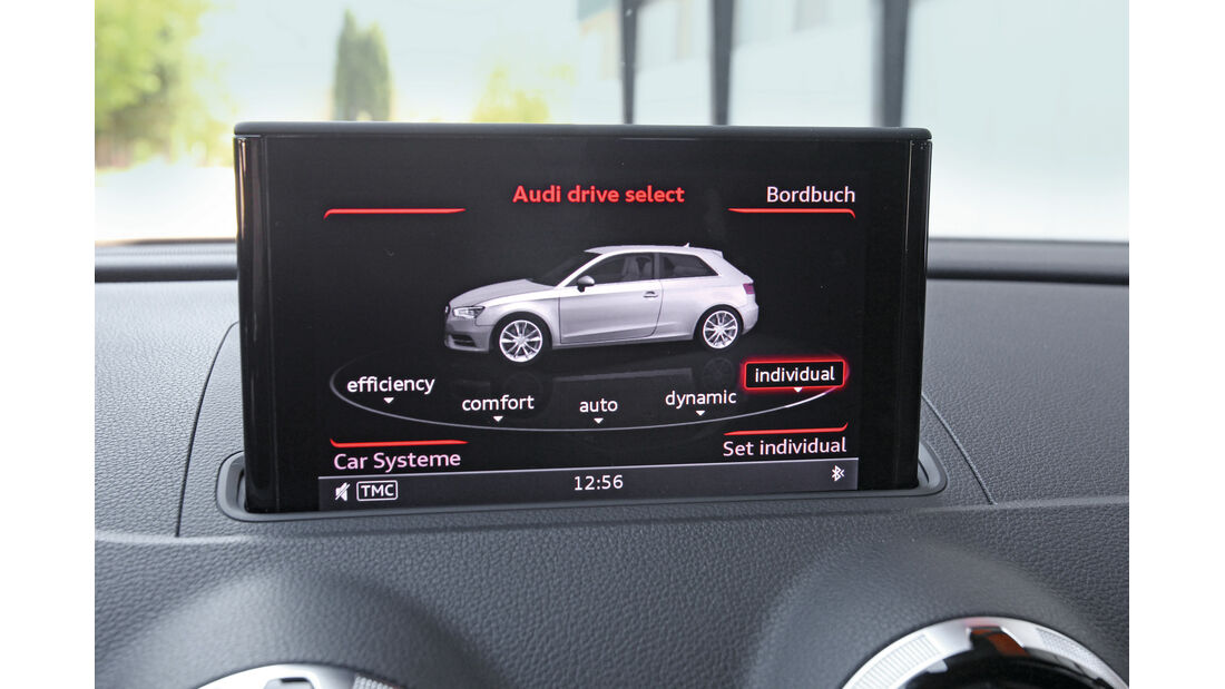 Audi A3, Display, Adaptiv-Dämpfer