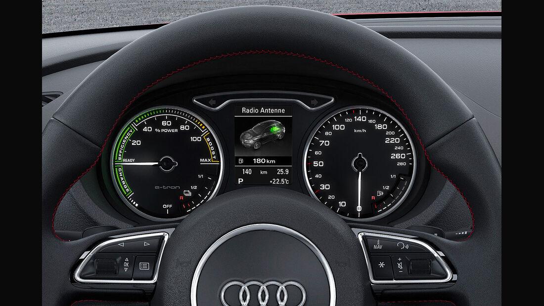 Audi A3 E-Tron Plug-in-Hybrid, Innenraum, Instrumente