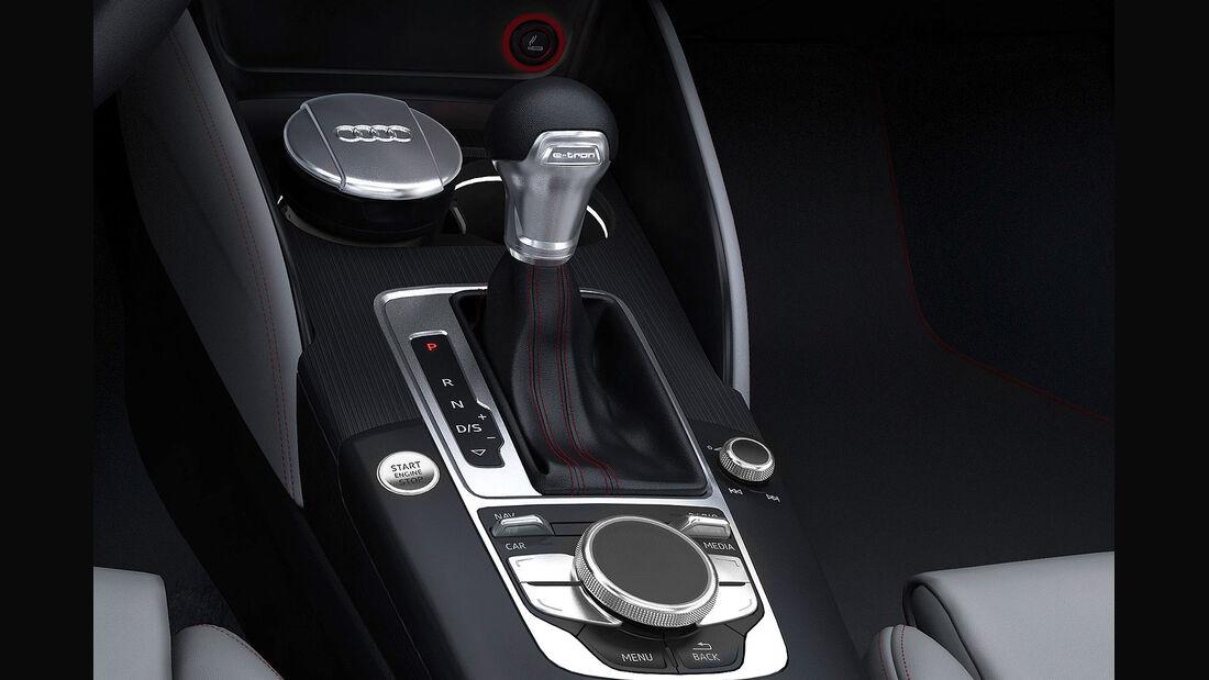 Audi A3 E-Tron Plug-in-Hybrid, Innenraum, Schaltung, s-tronic