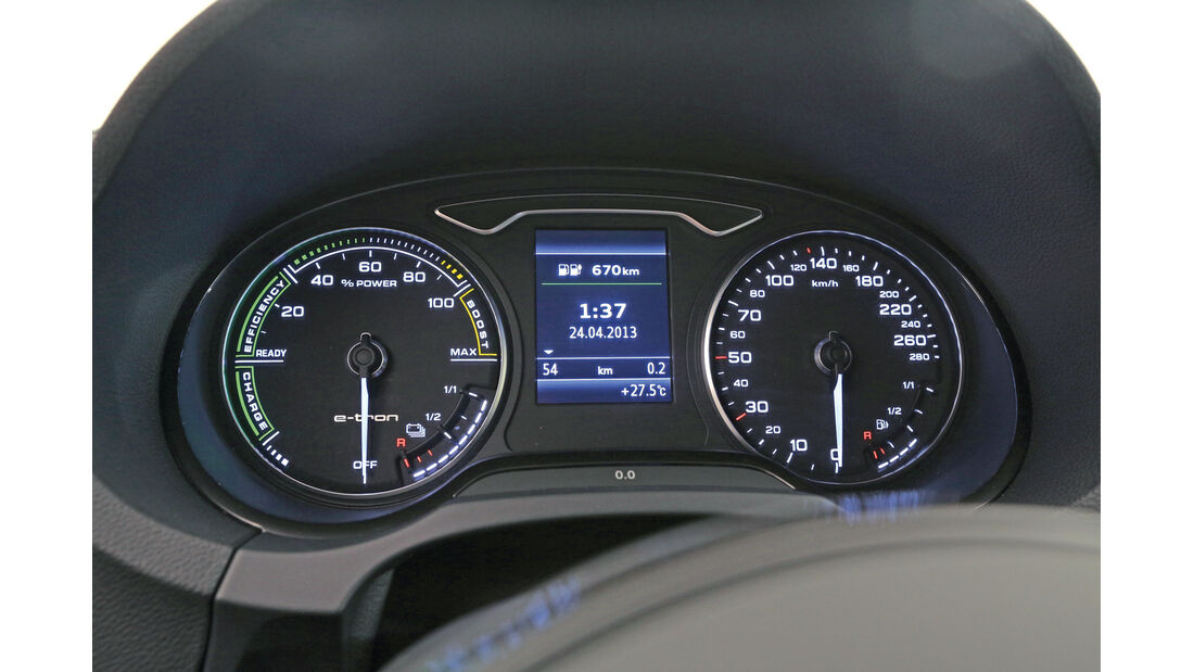 Audi A3 E-Tron, Rundinstrumente