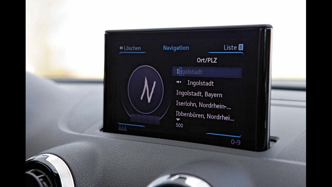 Audi A3, Infotainment-Bildschirm