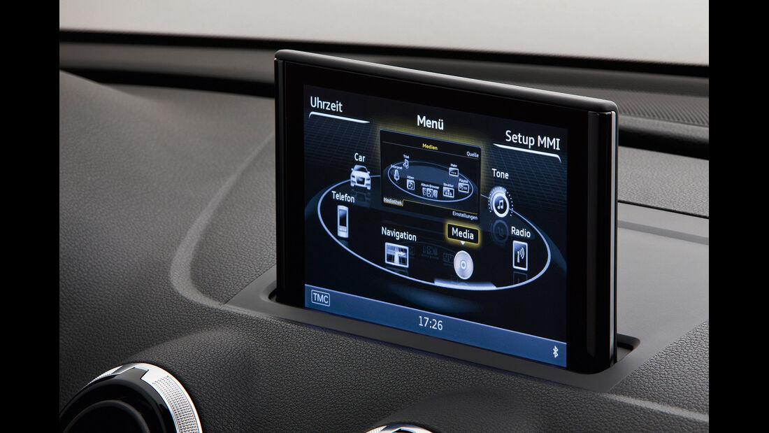 Audi A3, Infotainment-Menü
