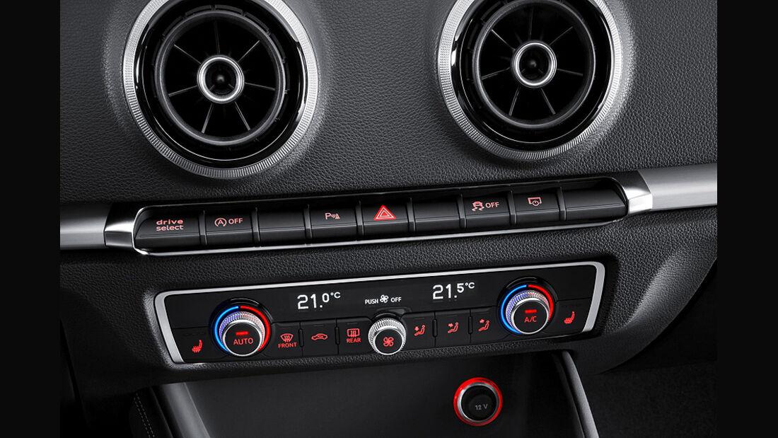 Audi A3 Innenraum, Klimaanlage