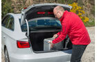 Audi A3 Limousine, Kofferraum, Beladen