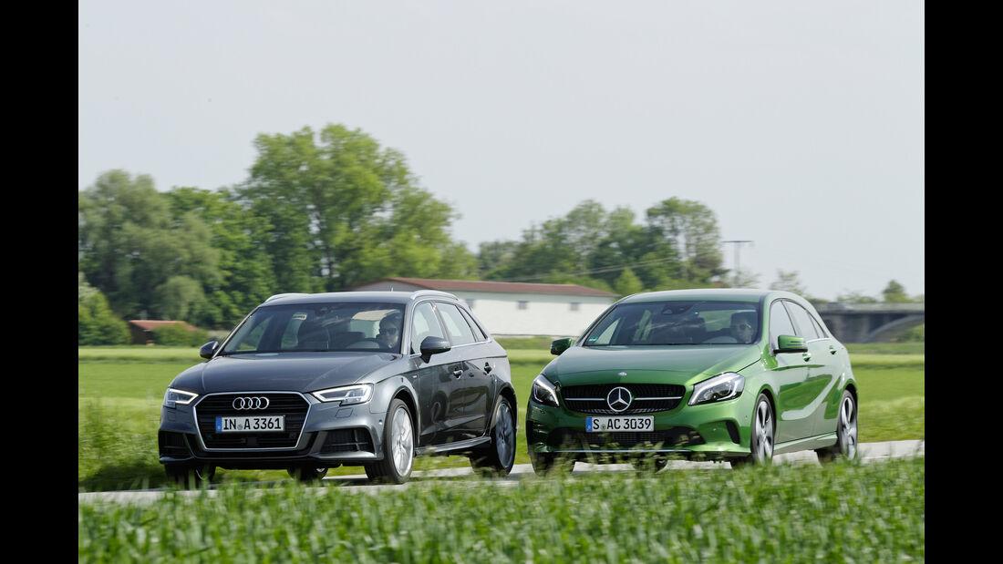 Audi A3, Mercedes A-Klasse, Frontansicht