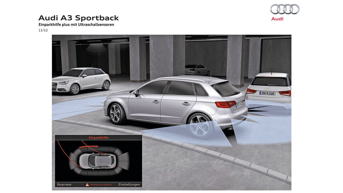 Audi A3, Parksensoren