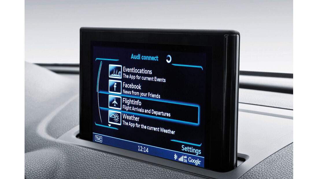 Audi A3, Social Media Anbindung