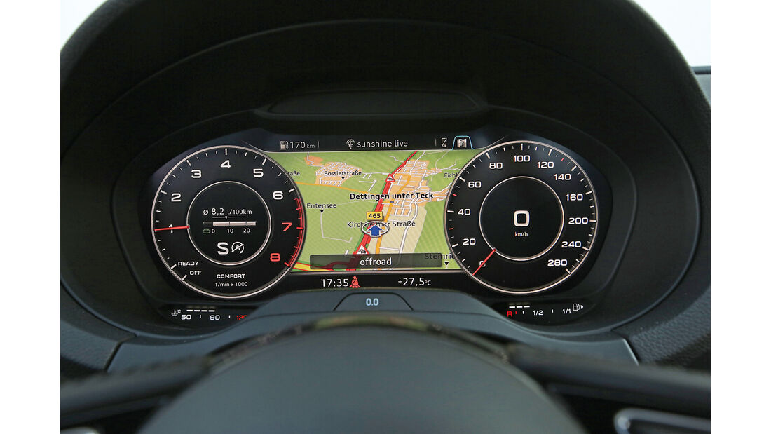 Audi A3 Sportback 1.0 TFSI, Anzeigeinstrumente
