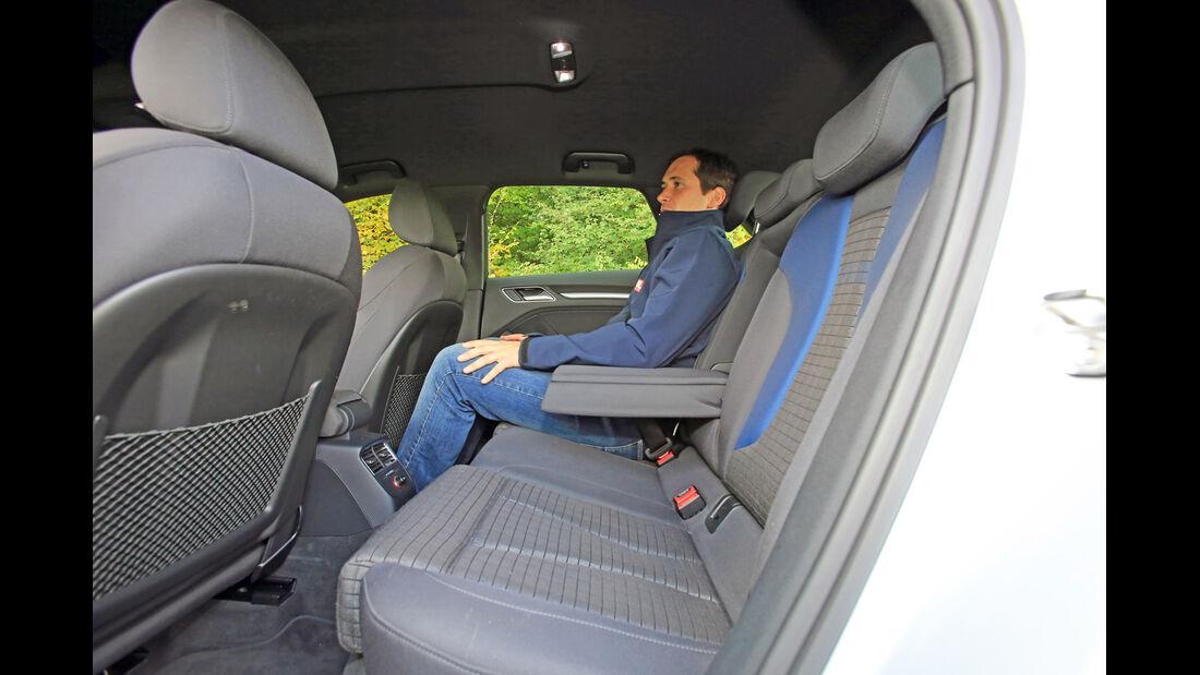 Audi A3 Sportback 1.2 TFSI, Fondsitz, Beinfreiheit