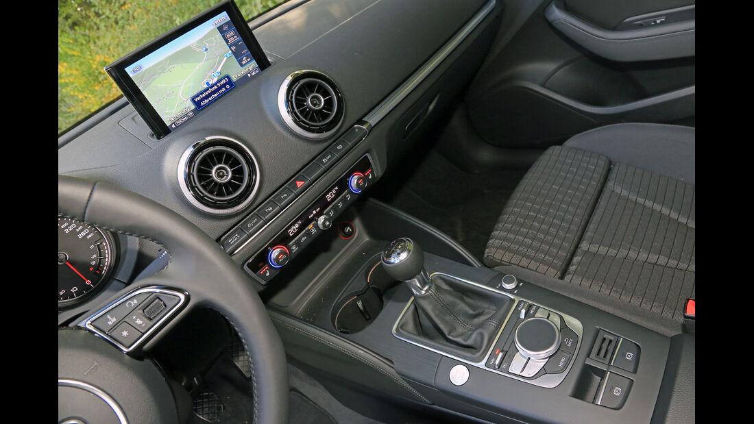 Audi A3 Sportback 1.2 TFSI, Mittelkonsole