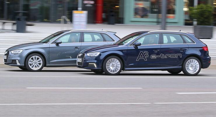 Audi A3 1 4 Tfsi Gegen Audi A3 E Tron Im Vergleich Auto Motor Und