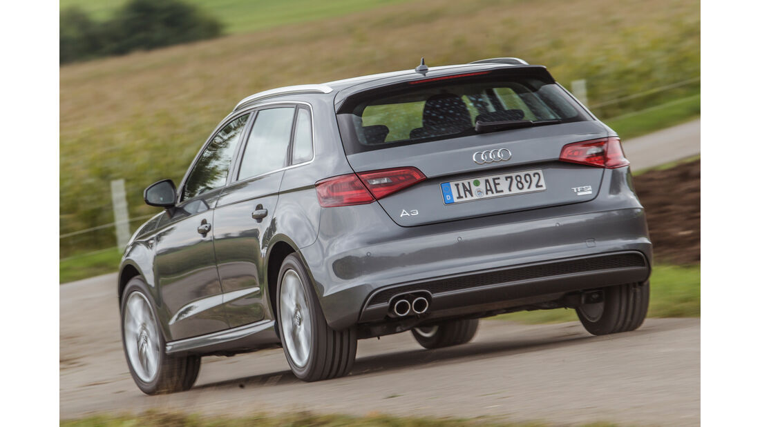 Audi A3 Sportback 1.4 TFSI COD, Heckansicht