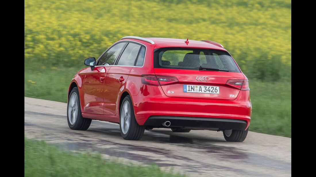 Audi A3 Sportback 1.6 TDI, Heckansicht