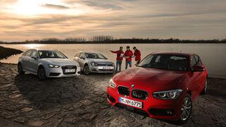 Audi A3 Sportback 1.6 TDI Ultra, BMW 116d, VW Golf 1.6 TDI,