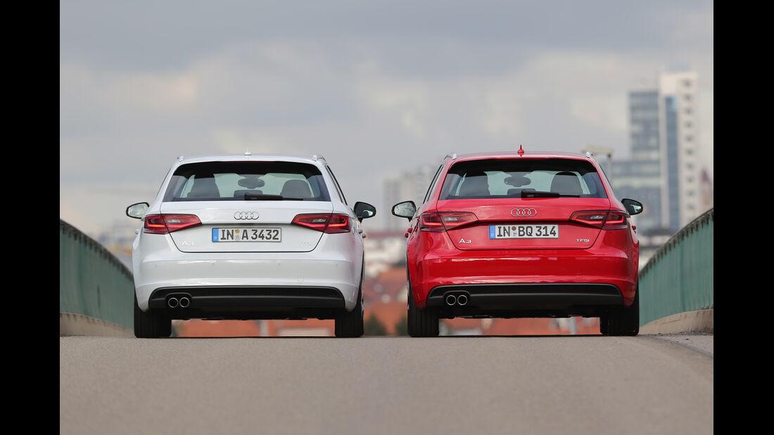 Audi A3 Sportback 1.8 TFSI, Audi A3 Sportback 2.0 TDI, Heckansicht