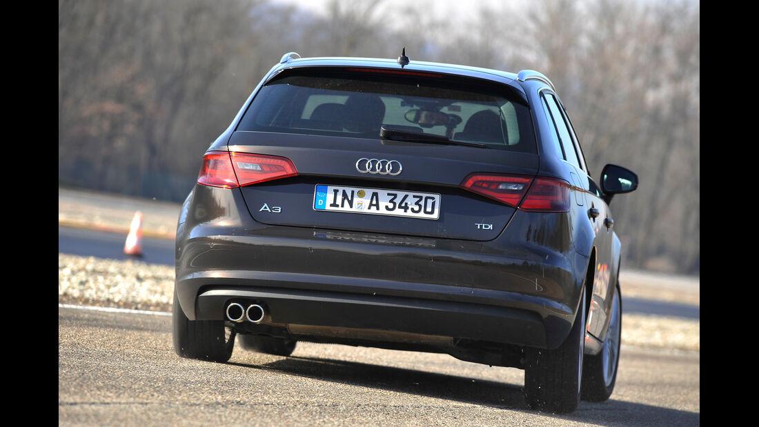 Audi A3 Sportback 2.0 TDI, Heckansicht