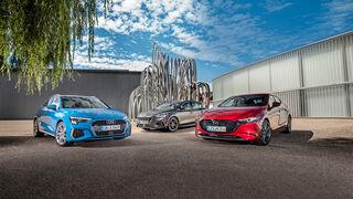Audi A3 Sportback 30 TDI, Ford Focus 1.5 EcoBlue, Mazda 3 D 1.8