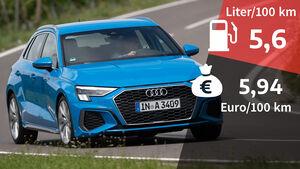 Audi A3 Sportback 30 TDI, Kosten & Realverbrauch