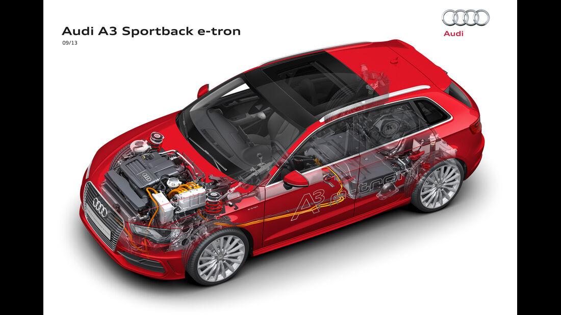 Audi A3 Sportback E-Tron, Grafik