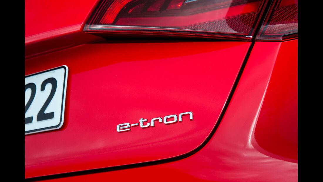 Audi A3 Sportback E-Tron, Schriftzug