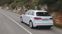 Audi A3 Sportback, Heckansicht