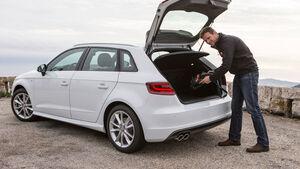 Audi A3 Sportback, Kofferraum, Heckklappe