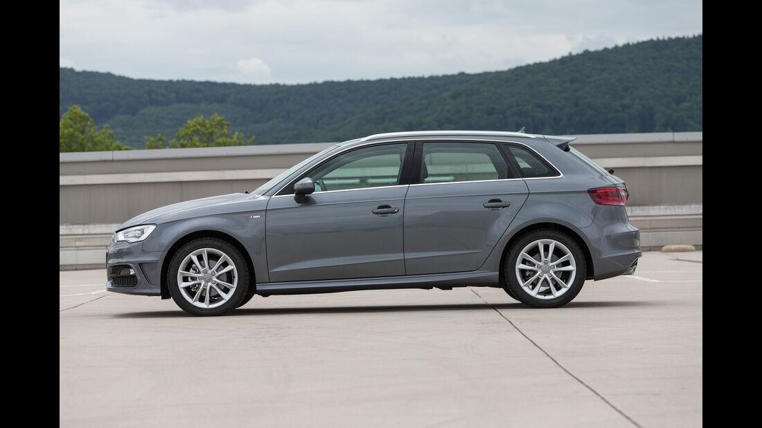 Audi A3 Sportback, Seitenansicht