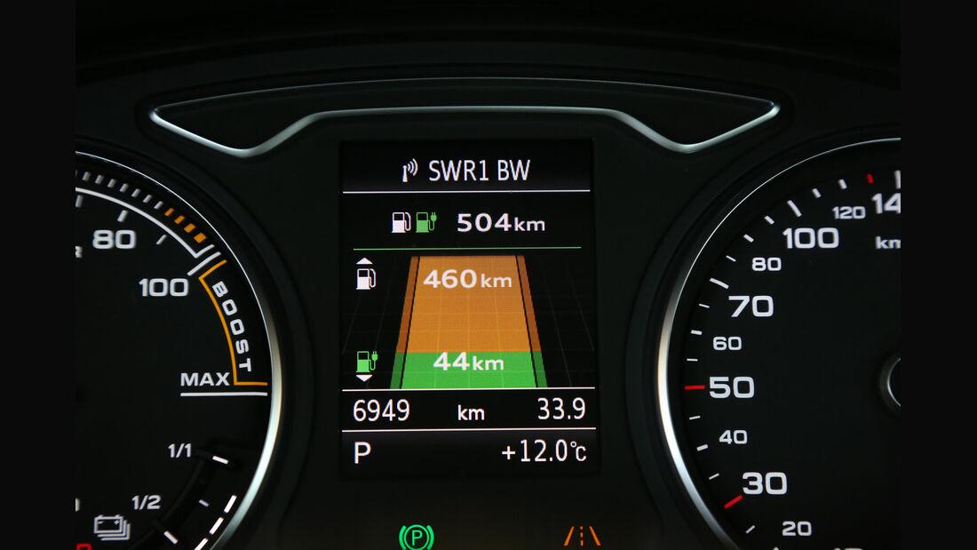 Audi A3 Sportback e-tron, Anzeige, Effizienz