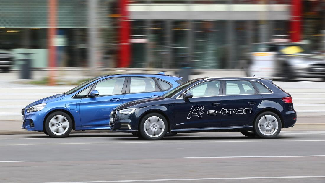 Audi A3 Sportback e-tron, BMW 225xe Active Tourer