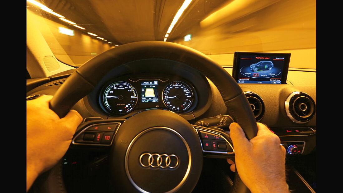 Audi A3 Sportback e-tron, Cockpit, Fahrersicht