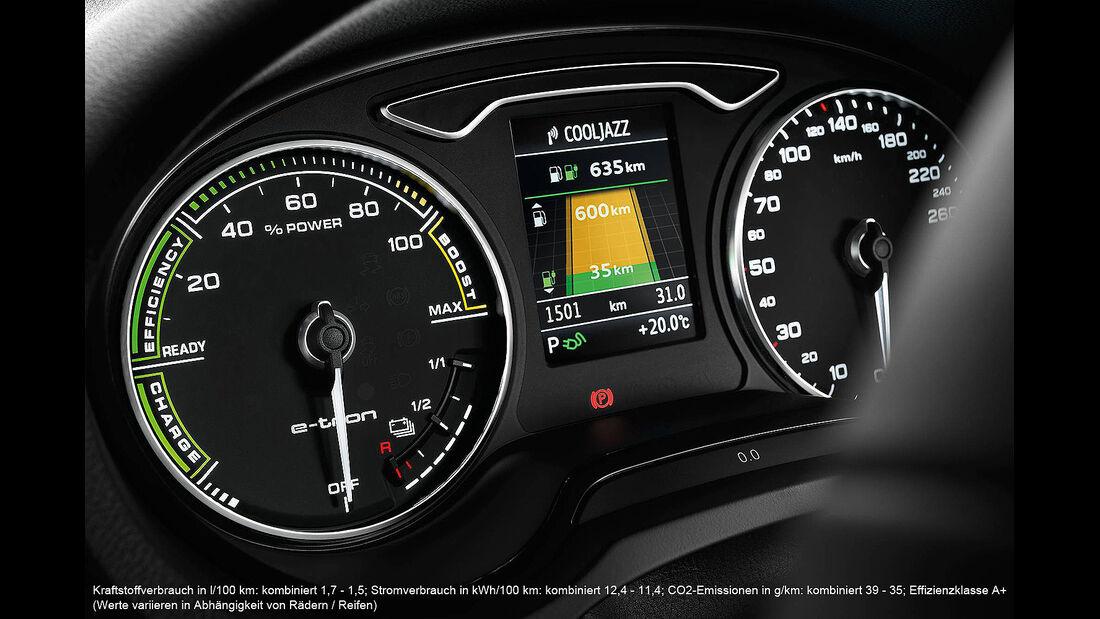 Audi A3 Sportback e-tron, Cockpit, Instrumente