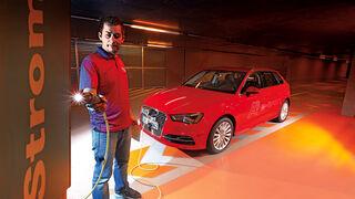 Audi A3 Sportback e-tron, Strom tanken, Frontansicht