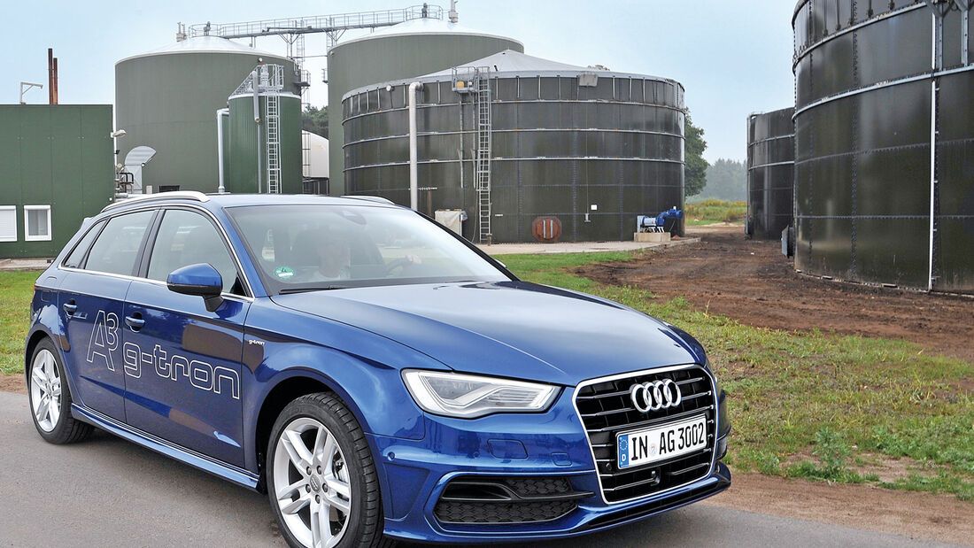 Audi A3 Sportback g-tron, Frontansicht, Gasanlage