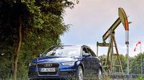 Audi A3 Sportback g-tron, Frontansicht, Ölpumpe