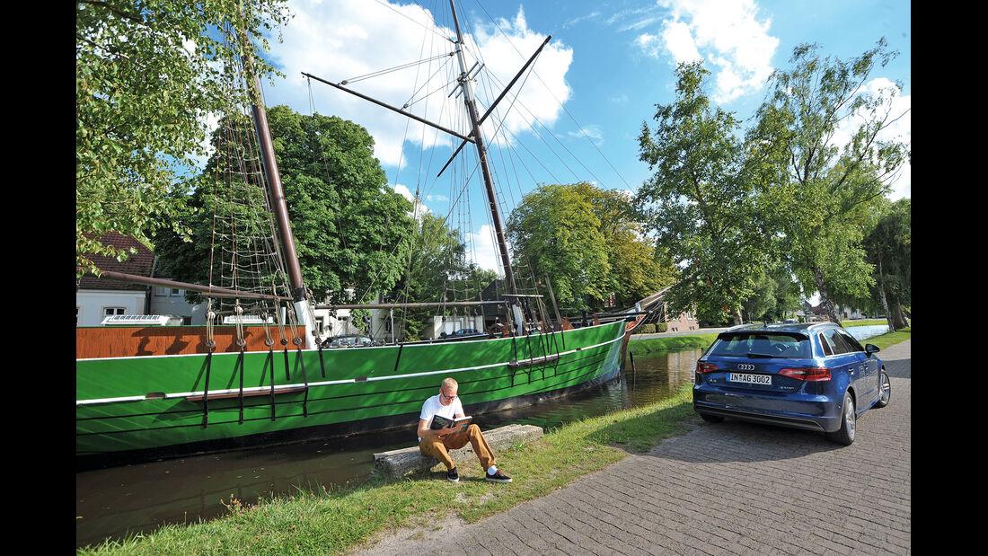 Audi A3 Sportback g-tron, Heckansicht, Papenburg
