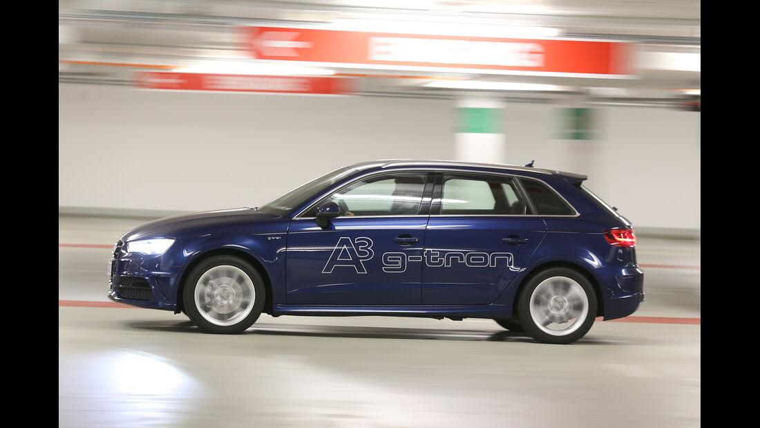 Audi A3 Sportback g-tron, Seitenansicht